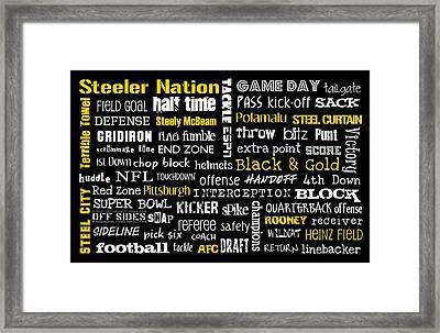 Pittsburgh Steelers Framed Print by Jaime Friedman