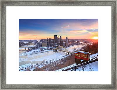 Pittsburgh Winter 2 Framed Print by Emmanuel Panagiotakis