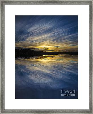 Pittwater Sunset Abstract Framed Print by Avalon Fine Art Photography