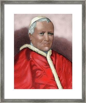 Pius Ix (1792-1878 Framed Print by Prisma Archivo
