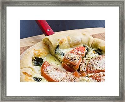 Pizza Framed Print by Edward Fielding