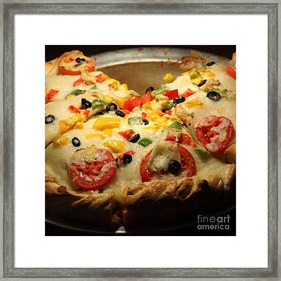 Pizza Pie - 5d20700 - Square Framed Print by Wingsdomain Art and Photography