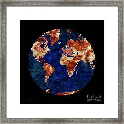 Pizza World Framed Print by Andee Design