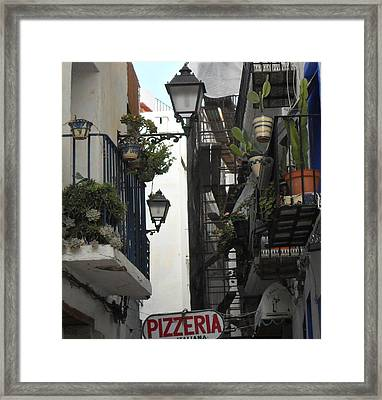 Pizzeria Framed Print by Peter Norden