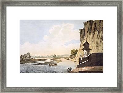 Pl. 26 A View Of The Gaut At Etawa Framed Print by William Hodges