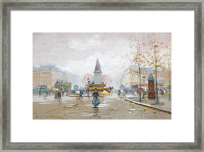 Place Clichy Framed Print by Celestial Images