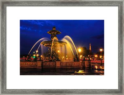 Place De La Concorde Framed Print by Midori Chan