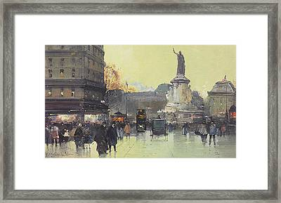 Place De La Republique Framed Print by Eugene Galien-Laloue