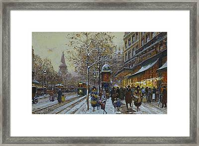 Place De La Republique Paris Framed Print by Eugene Galien-Laloue
