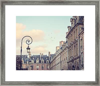 Place Des Vosges In Paris France Framed Print by Melanie Alexandra Price