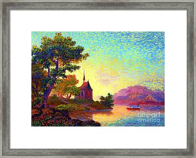Beautiful Church, Place Of Welcome Framed Print by Jane Small