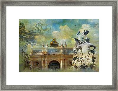 Place Stanislas Place De La Carriere And Place Dalliance In Nancy Framed Print by Catf