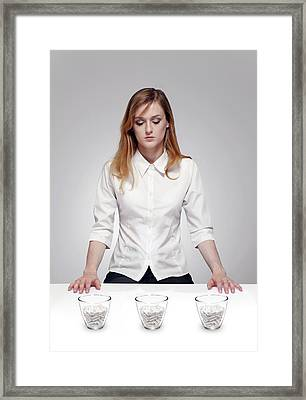 Placebo Drug Trial Framed Print by Victor De Schwanberg