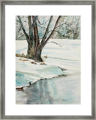 Placid Winter Morning Framed Print by Mary Benke