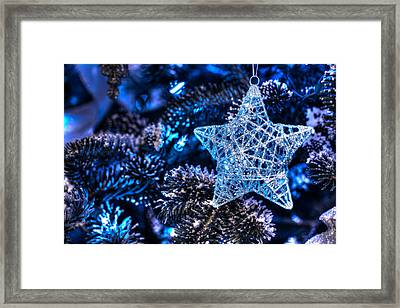 Blue Christmas Framed Print by Shelley Neff