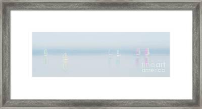 Plain Sailing Framed Print by Janet Burdon