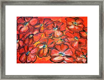Plaisir Rouge Framed Print by Ramona Matei