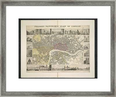 Plan Of London Framed Print by British Library