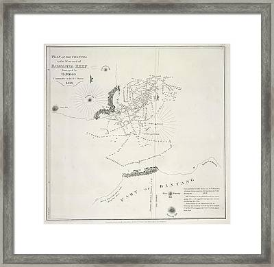 Plan Of The Channels Framed Print by British Library