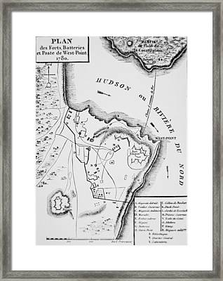 Plan Of West Point Framed Print by French School