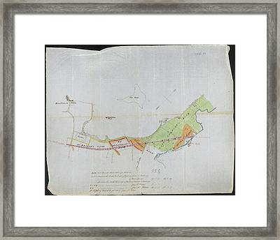 Plan Of Wimbledon Framed Print by British Library