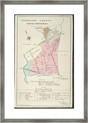 Plan Of Wimbledon Common Framed Print by British Library