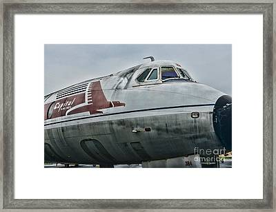 Plane Capital Airlines Framed Print by Paul Ward