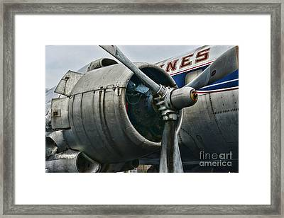 Plane Check Your Engine Framed Print by Paul Ward