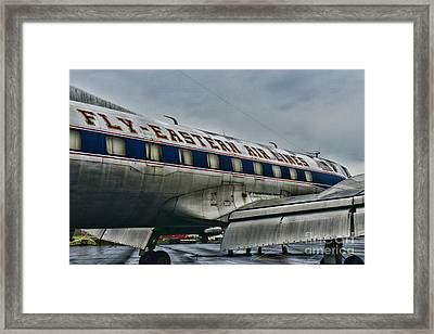 Plane Fly Eastern Air Lines Framed Print by Paul Ward
