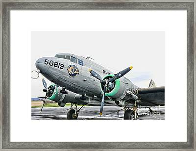 Plane Naval Air Transport Service Framed Print by Paul Ward