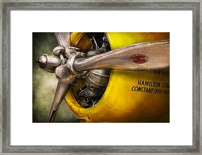 Plane - Pilot - Prop - Twin Wasp Framed Print by Mike Savad