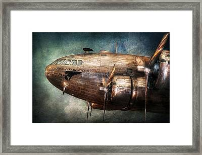 Plane - Pilot - The Flying Cloud  Framed Print by Mike Savad