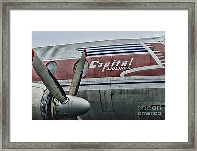 Plane Vintage Capital Airlines Framed Print by Paul Ward