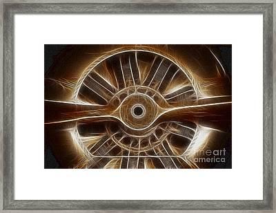 Plane Wooden Prop Framed Print by Paul Ward
