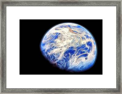 Planet Earth Framed Print by Dan Sproul