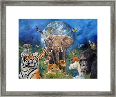 Planet Earth Framed Print by David Stribbling