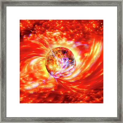 Planet Formation Framed Print by Richard Kail