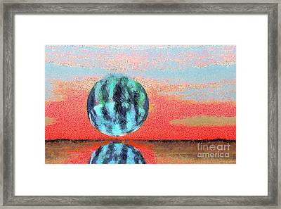 Planet In Space  Framed Print by Odon Czintos