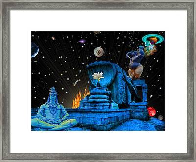 Planet Of Shiva  Framed Print by Jason Saunders