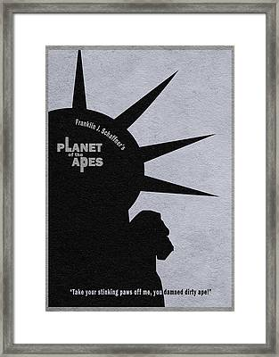 Planet Of The Apes Framed Print by Ayse Deniz