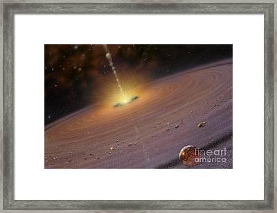 Planetary Disk II V2 Framed Print by Lynette Cook