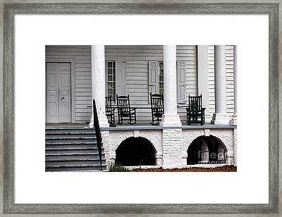 Plantation Porch Framed Print by John Rizzuto