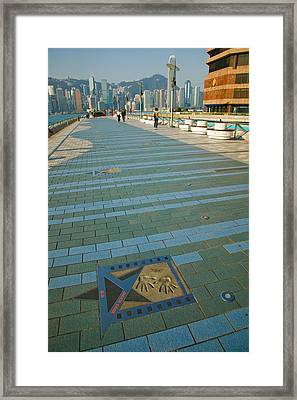 Plaque And Handprints Of Jackie Chan Framed Print by Panoramic Images