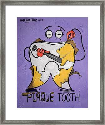 Plaque Tooth Framed Print by Anthony Falbo