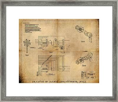 Plasma Gun Framed Print by James Christopher Hill
