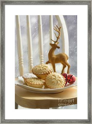 Plate Of Mince Pies Framed Print by Amanda And Christopher Elwell