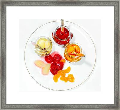 Plate Of Mixed Fruit Framed Print by Diana Angstadt