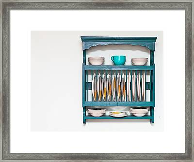 Plate Rack Framed Print by Tom Gowanlock