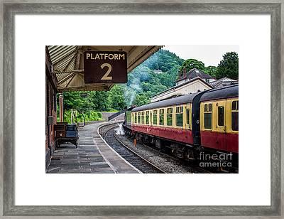 Platform 2 Framed Print by Adrian Evans