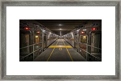 Platform Eight At Union Station Framed Print by Adam Romanowicz